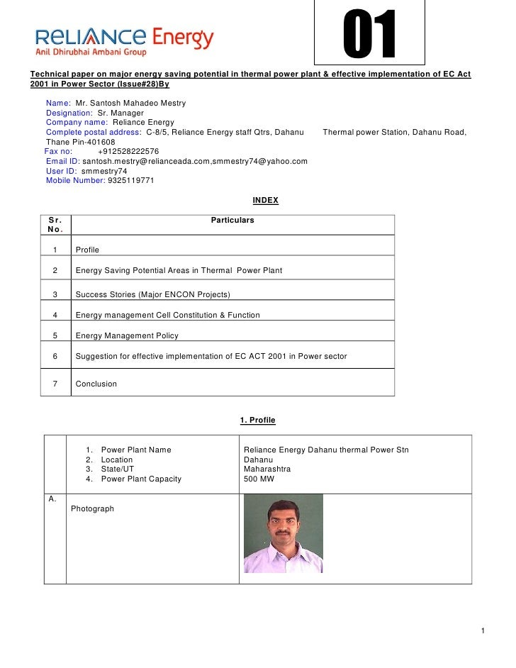 01Technical paper on major energy saving potential in thermal power plant & effective implementation of EC Act2001 in Powe...