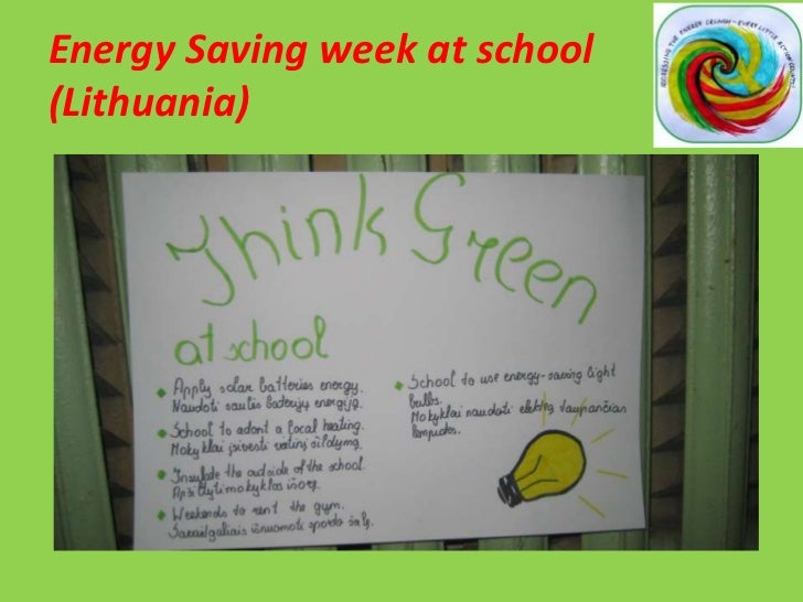 Energy Saving week at school(Lithuania)