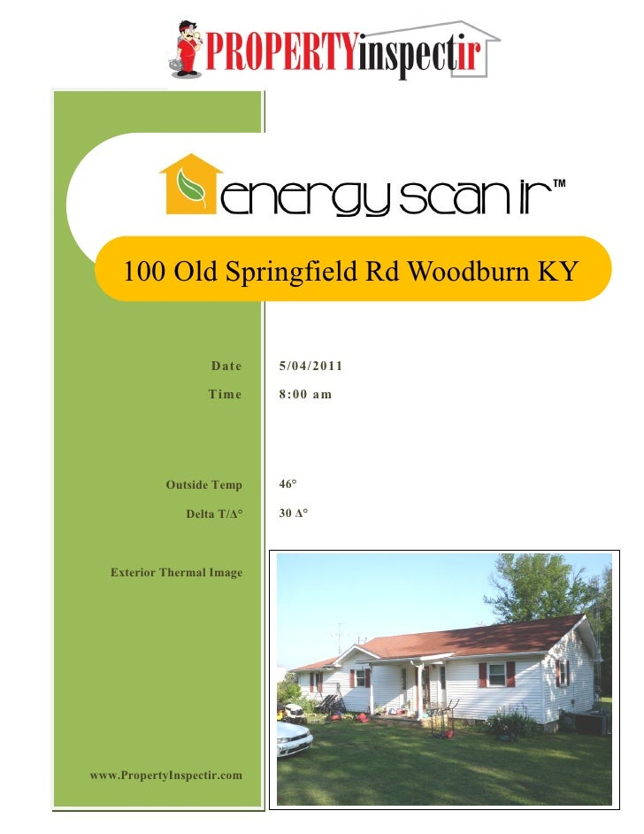 100 Old Springfield Rd Woodburn KY                   Date     5/04/2011                   Time     8:00 am            Outs...