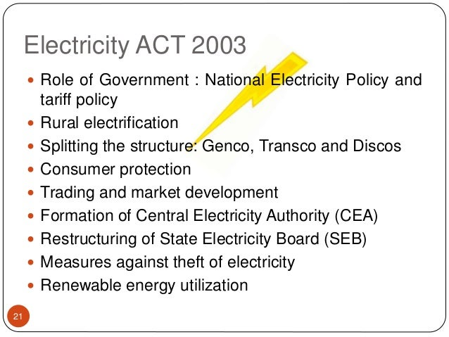 Electricity Act 2003 Tariff