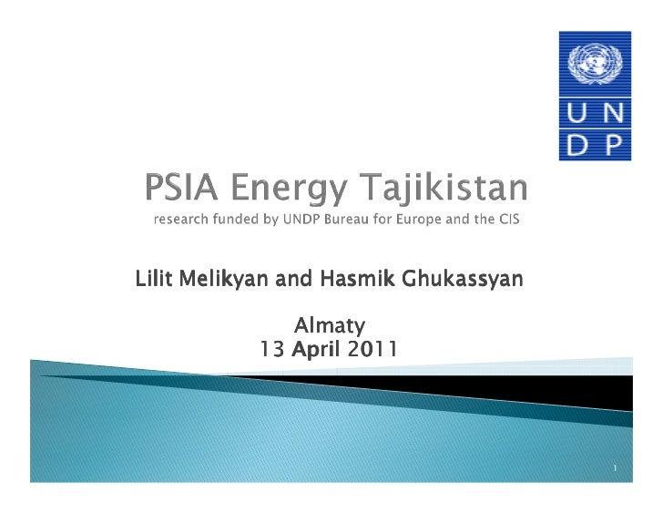 Lilit Melikyan and Hasmik Ghukassyan              Almaty           13 April 2011                                       1