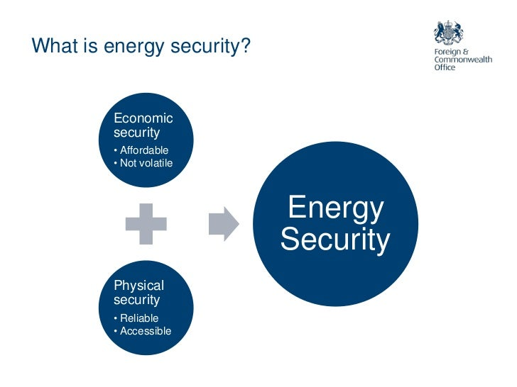 For energy security