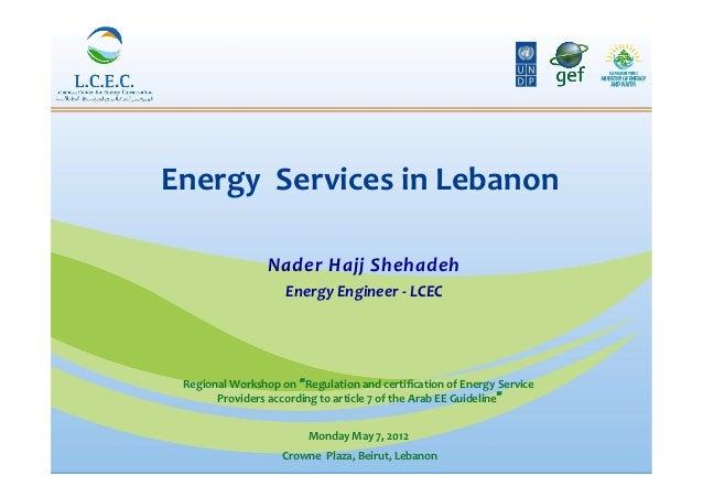 Energy  Services in Lebanon                                                                 Nader Hajj She...