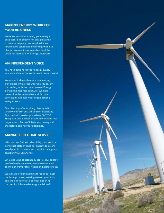 Energy Solutions from PAETEC Slide 2