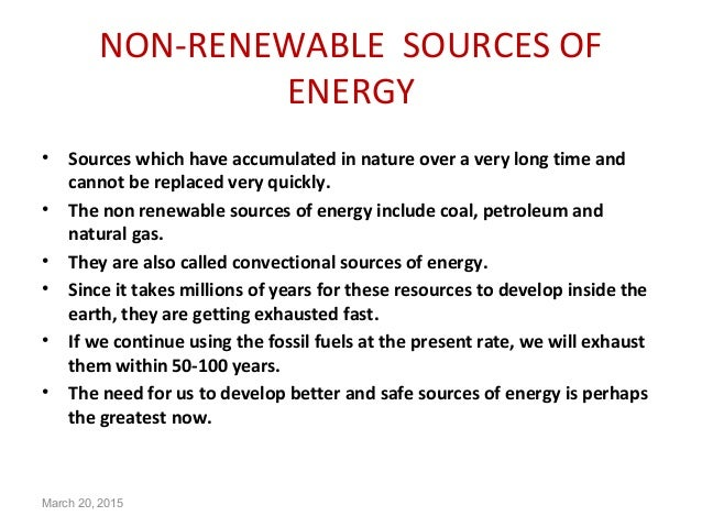 importance of non renewable resources