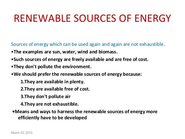 conservation of renewable resources
