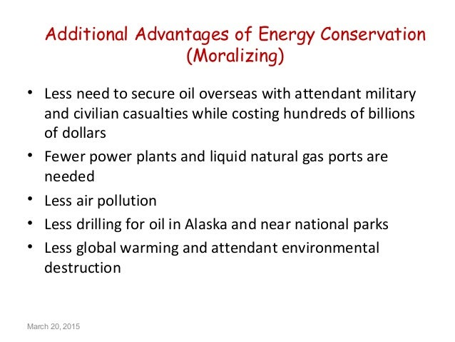 Advantages of Conservation of Energy