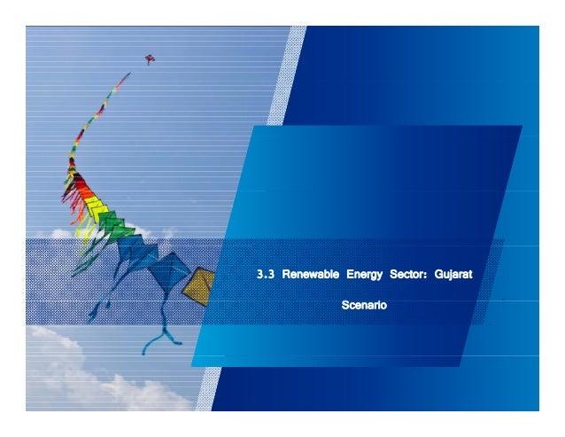 3.3 Renewable Energy Sector: Gujarat  Scenario