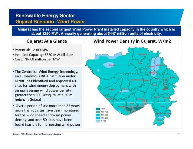 Renewable Energy Sector  Gujarat Scenario: Wind Power  Gujarat has the second largest Wind Power Plant installed capacity ...