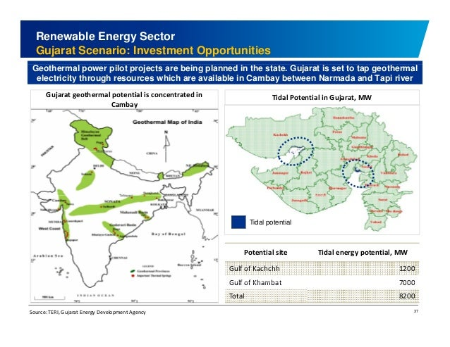 Renewable Energy Sector  Gujarat Scenario: Investment Opportunities  Geothermal power pilot projects are being planned in ...