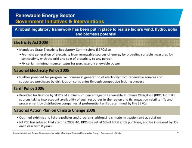 Renewable Energy Sector  Government Initiatives & Interventions  A robust regulatory framework has been put in place to re...