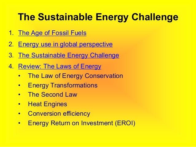 The Sustainable Energy Challenge Slide 3