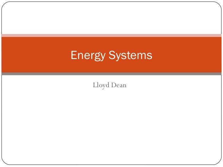 Lloyd Dean Energy Systems