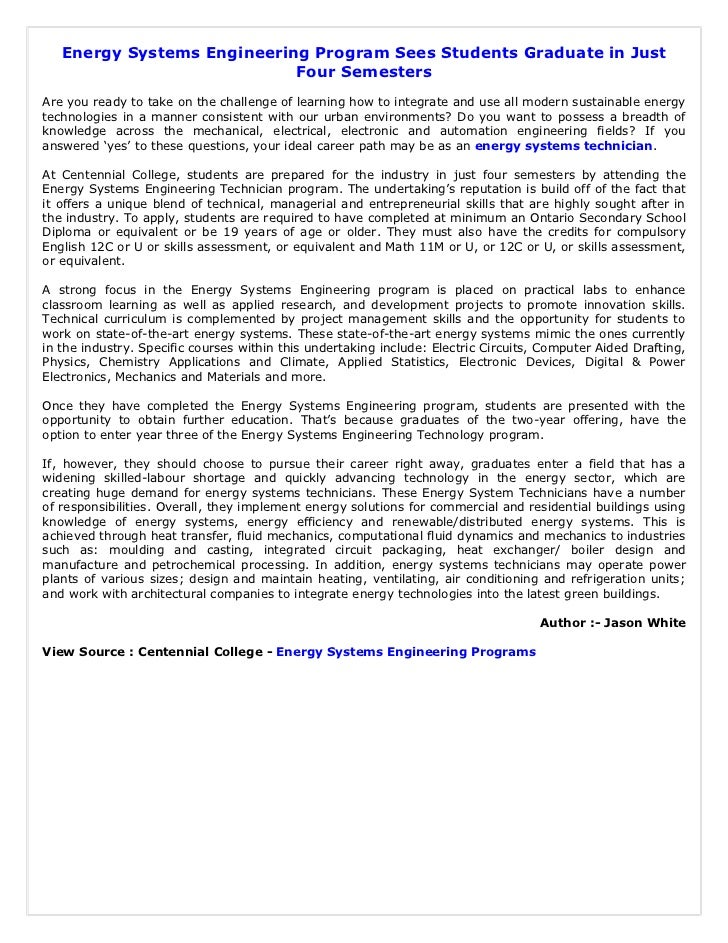 Energy Systems Engineering Program Sees Students Graduate in Just                            Four SemestersAre you ready t...