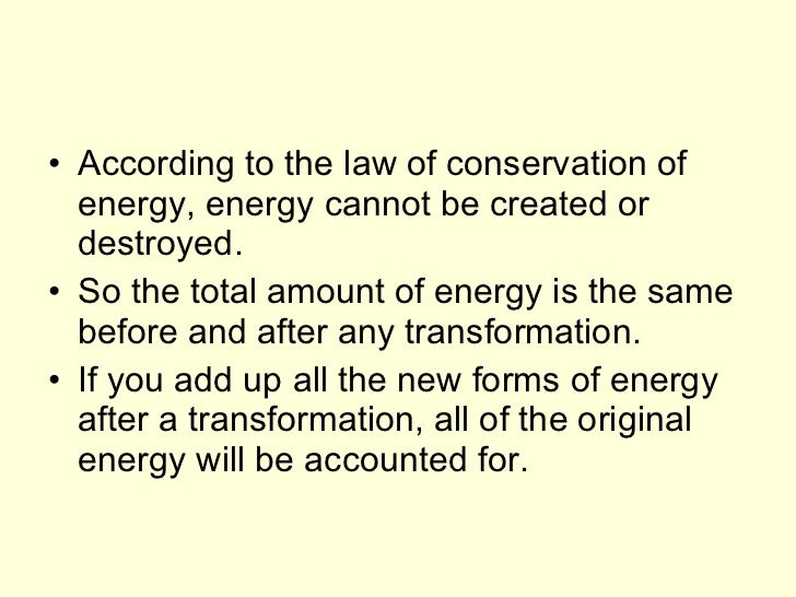 Law Of Conservation Of Energy Activities For Middle School ...