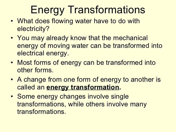 What is a form of mechanical energy for Energy conservation facts