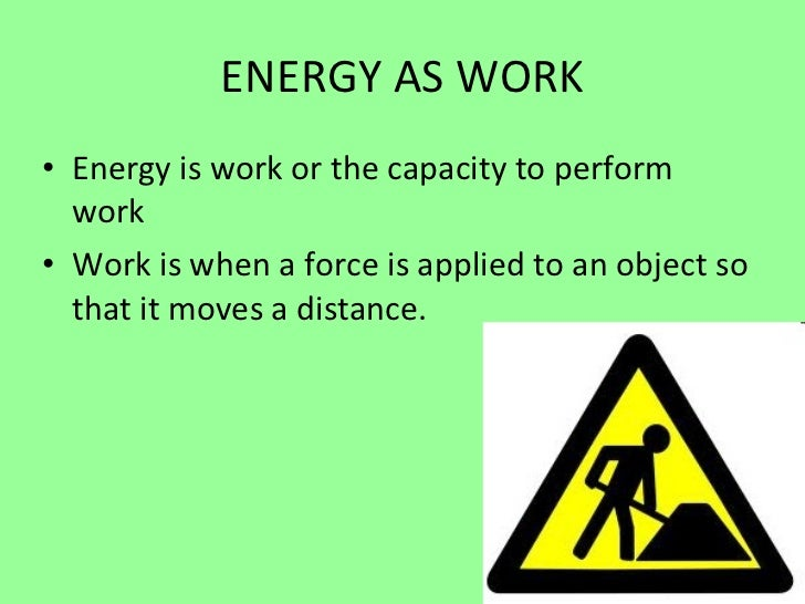 Energy work and power web