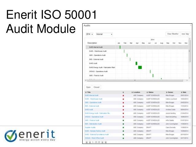 © 2007 Ltd. © 2014 Ltd. © 2007 Ltd. © 2014 Ltd. Enerit ISO 50001 Audit Module