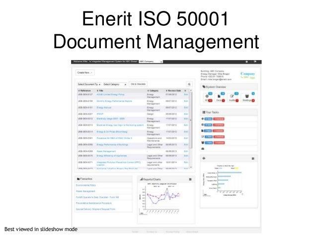 © 2007 Ltd. © 2014 Ltd. Enerit ISO 50001 Document Management Best viewed in slideshow mode