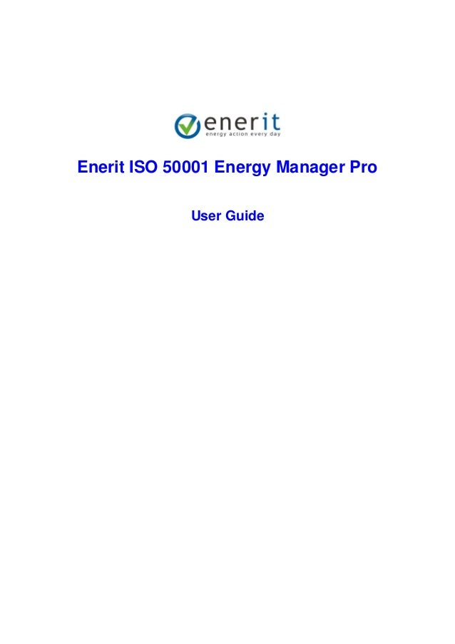 Enerit ISO 50001 Energy Manager Pro User Guide