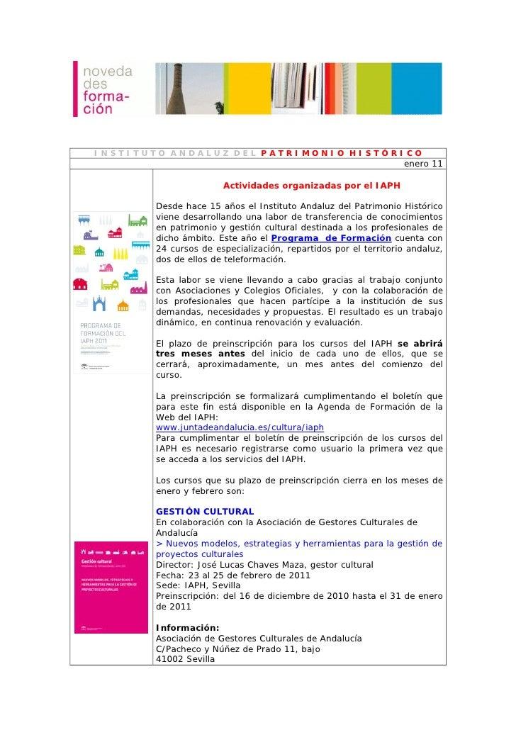 INSTITUTO ANDALUZ DEL PATRIMONIO HISTÓRICO                                                                enero 11        ...