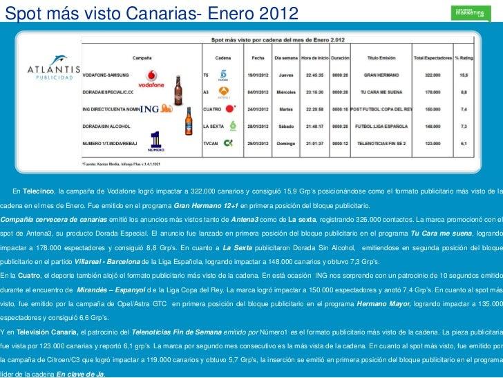 Spot m s visto canarias enero 2012 - Ofertas canarias enero ...
