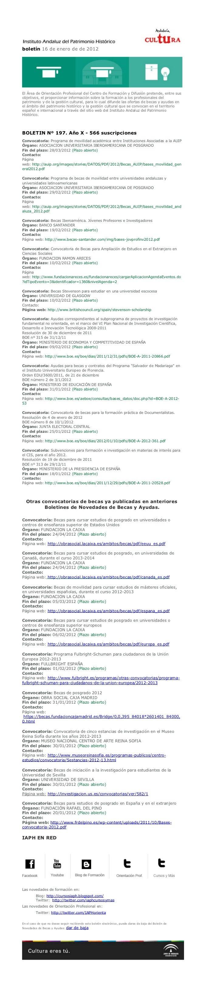 boletín 16 de enero de de 2012El Área de Orientación Profesional del Centro de Formación y Difusión pretende, entre susobj...