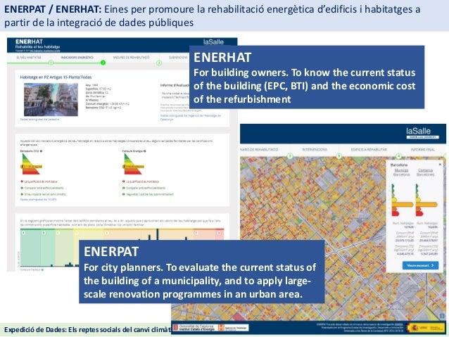 ENERPAT / ENERHAT: eines per promoure la rehabilitació energètica d'edificis i habitatges a partir de la integració de dades públiques Slide 2