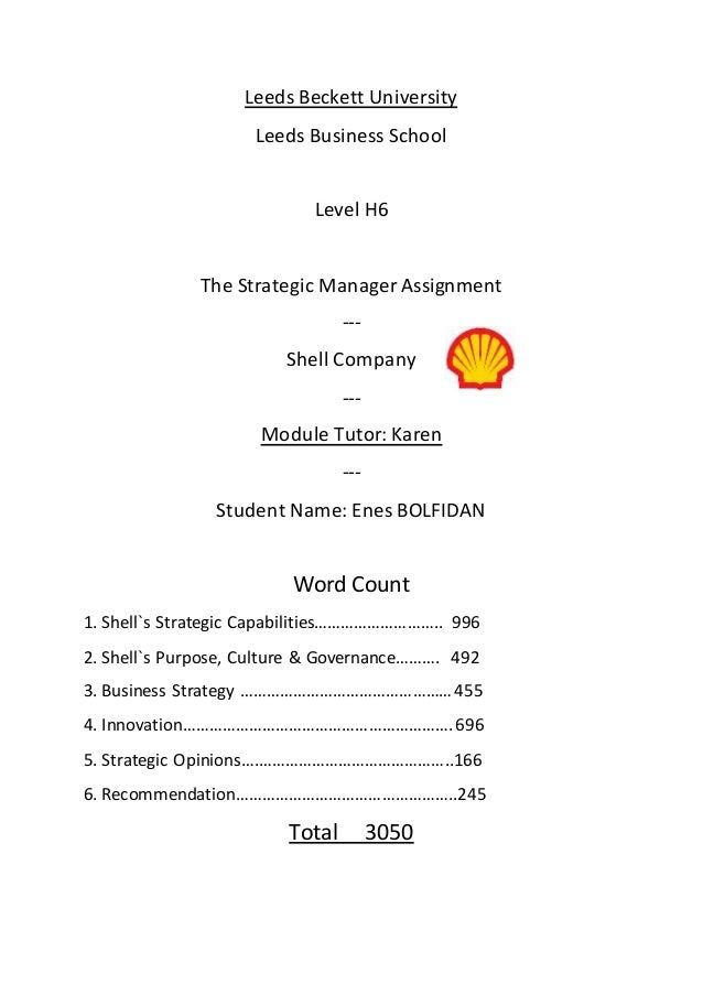 Shell - Strategy