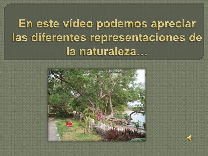 En este vídeo podemos apreciar las diferentes representaciones de la naturaleza…<br />