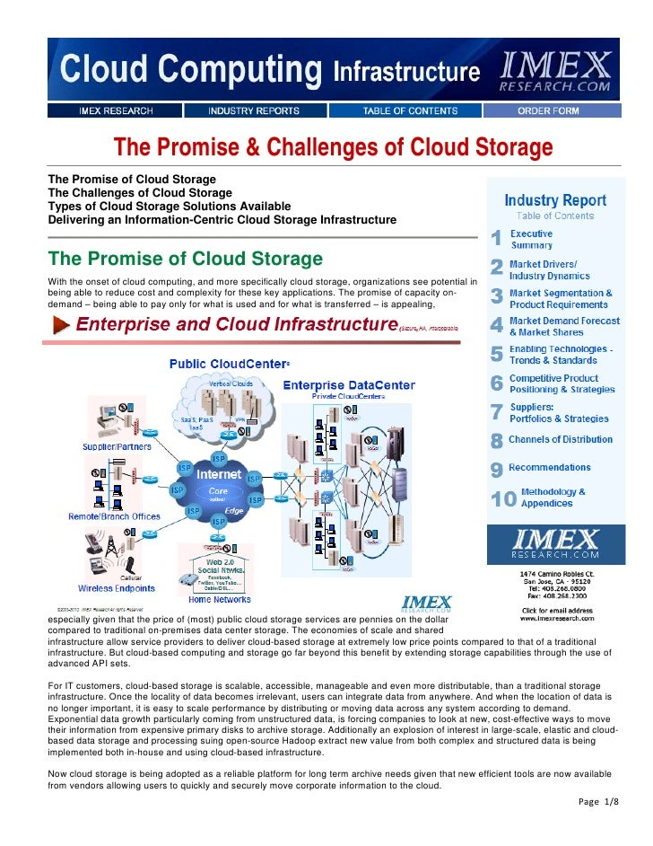 The Promise & Challenges of Cloud StorageThe Promise of Cloud StorageThe Challenges of Cloud StorageTypes of Cloud Storage...