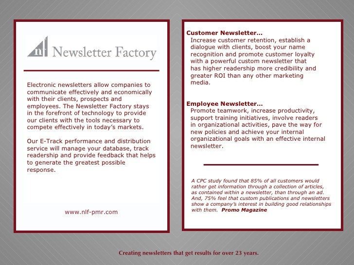 sample newsletters