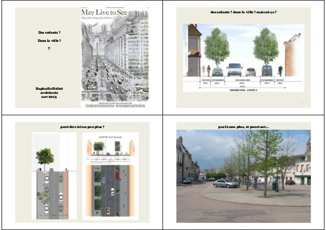 Des enfants ? Dans la ville ? !! Raphaële Heliot architecte nov 2013 1 des enfants ? dans la ville ? mais où ça ? 2 peut-ê...