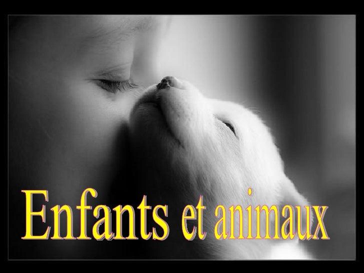 Enfants et animaux