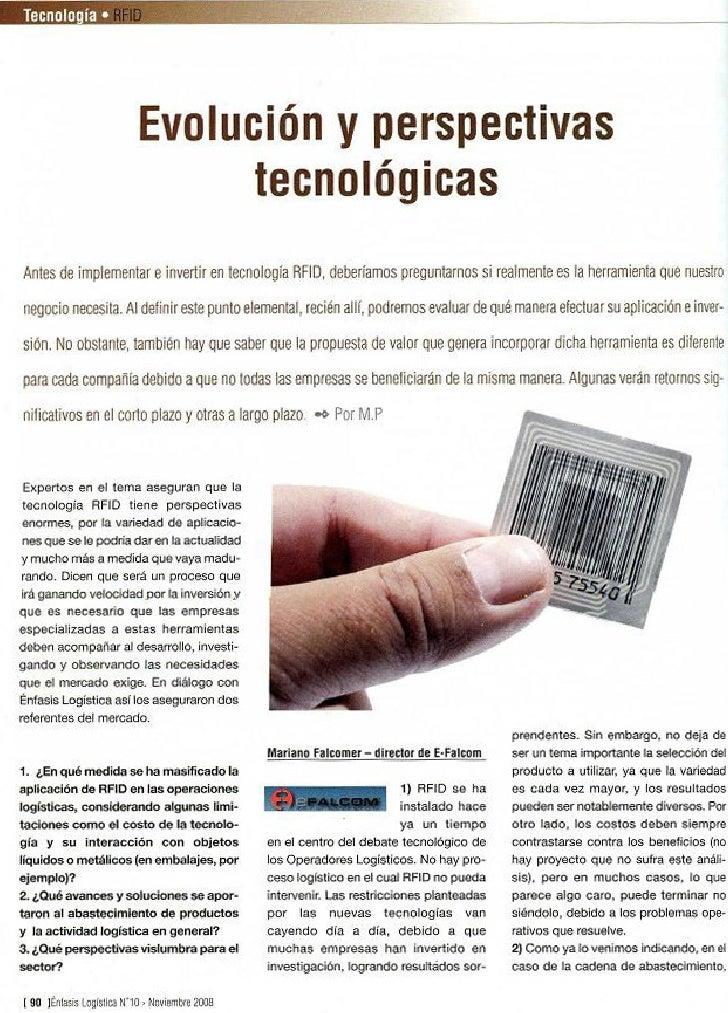 Tecnología RFID: Evolución y perspectivas tecnológicas