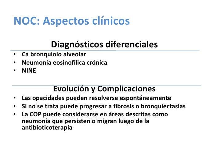 NIU- TCAR<br />Bilaterales y en parches<br />Periférico y subpleural, predominantemente en los segmentos posteriores<br />...