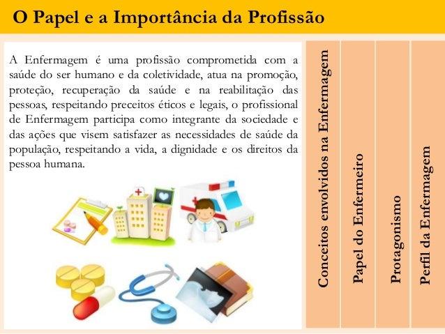 O Papel e a Importância da Profissão ConceitosenvolvidosnaEnfermagem A Enfermagem é uma profissão comprometida com a saúde...