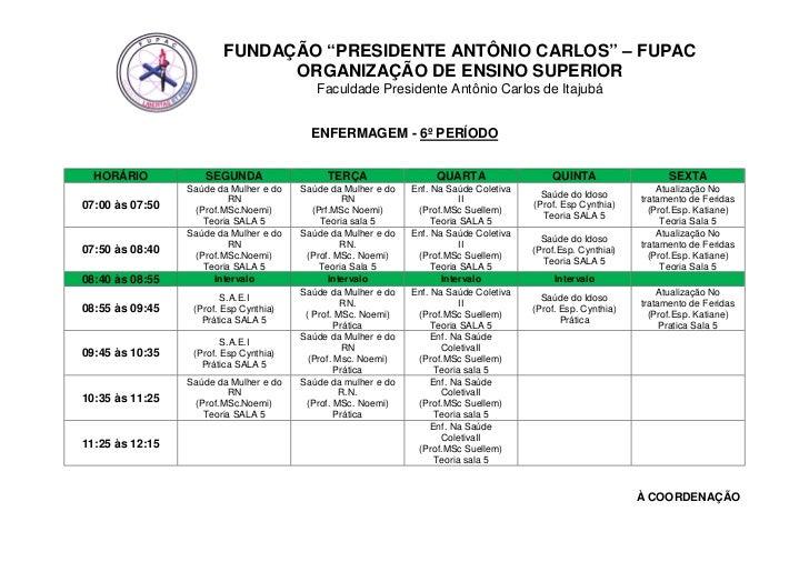 """FUNDAÇÃO """"PRESIDENTE ANTÔNIO CARLOS"""" – FUPAC                               ORGANIZAÇÃO DE ENSINO SUPERIOR                 ..."""