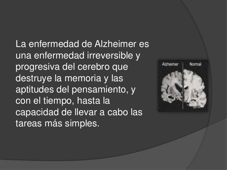 Enfermedad de alzheimer Slide 2