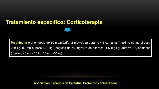 Estado clínico en respuesta al tratamiento Asociación Española de Pediatría. Protocolos actualizados