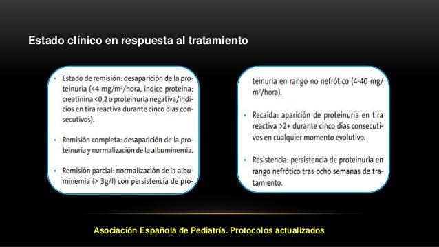 Estrategia de seguimiento Remisión: retirada progresiva de la prednisona en 4-6 semanas (tiempo mínimo de tratamiento, tre...