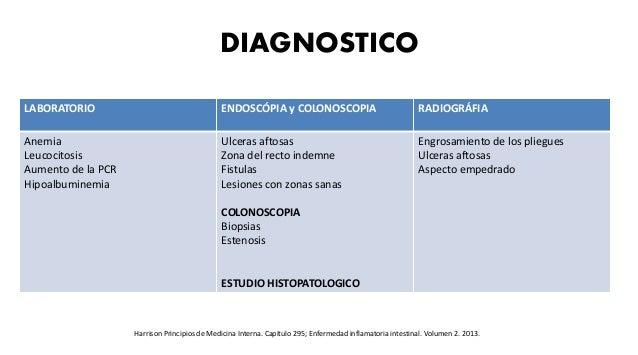 DIAGNOSTICO Harrison Principios de Medicina Interna. Capitulo 295; Enfermedad inflamatoria intestinal. Volumen 2. 2013. LA...