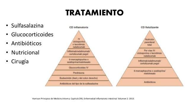 TRATAMIENTO • Sulfasalazina • Glucocorticoides • Antibióticos • Nutricional • Cirugía Harrison Principios de Medicina Inte...