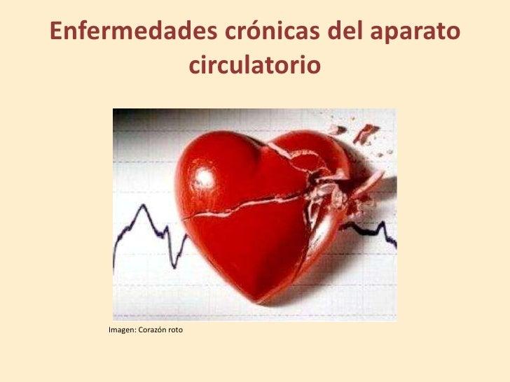 Enfermedades crónicas del aparato          circulatorio    Imagen: Corazón roto
