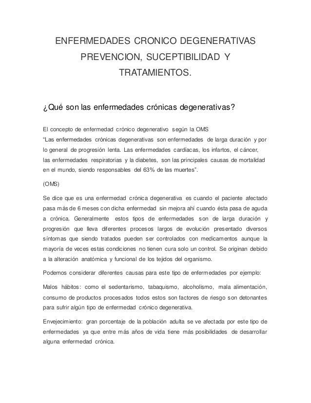 Enfermedades Cronicas Degenerativas  Slide 3