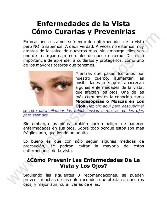 Enfermedades de la vista y los ojos como curar las for Como se maquillan los ojos ahumados