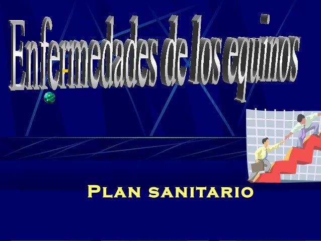Plan sanitario -