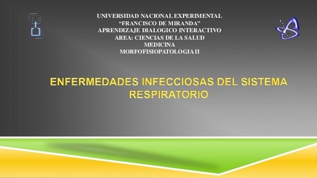 """UNIVERSIDAD NACIONAL EXPERIMENTAL """"FRANCISCO DE MIRANDA"""" APRENDIZAJE DIALOGICO INTERACTIVO AREA: CIENCIAS DE LA SALUD MEDI..."""