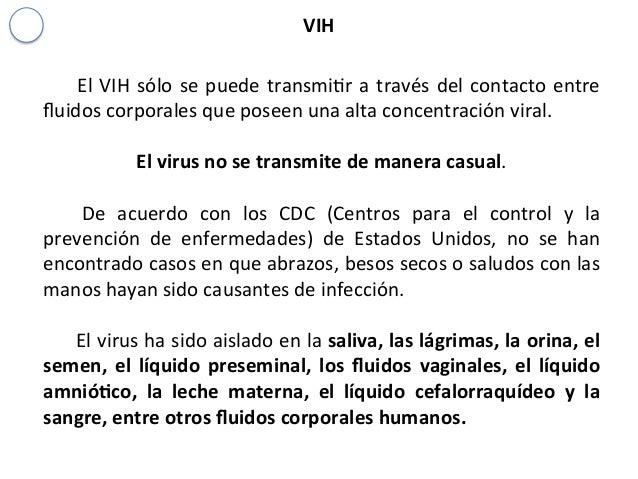 Intervenci n en caso de usuarios con enfermedades infectocontagiosas - Liquido preseminal vih casos ...