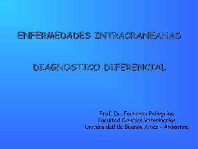 EENNFFEERRMMEEDDAADDEESS IINNTTRRAACCRRAANNEEAANNAASS  DDIIAAGGNNOOSSTTIICCOO DDIIFFEERREENNCCIIAALL  Prof. Dr. Fernando P...
